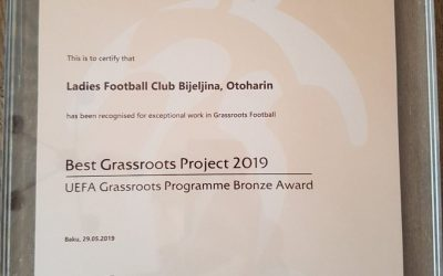 Winners of the UEFA Grassroots Award for 2019